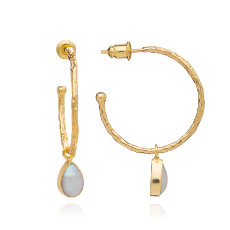 Hydra Gold and Pearl Hoops
