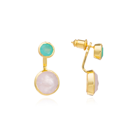 Two-Way Studs With Gemstones