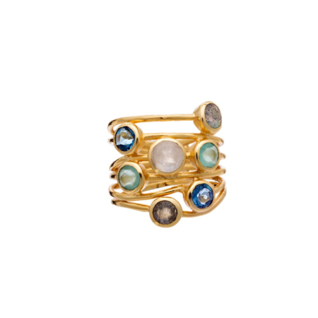 Iona Entwined Ring: Iolite Mix